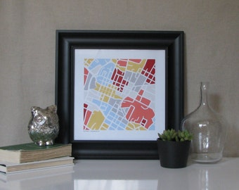 Downtown Charlottesville Map Print