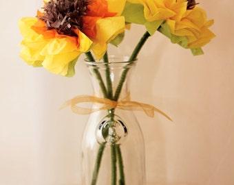Sunflowers Tissue Paper Flowers