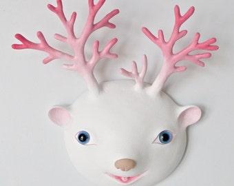 "unique original sculpture ""Deer Head"""