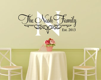 Family Wall Decal Etsy - Custom made vinyl wall decals