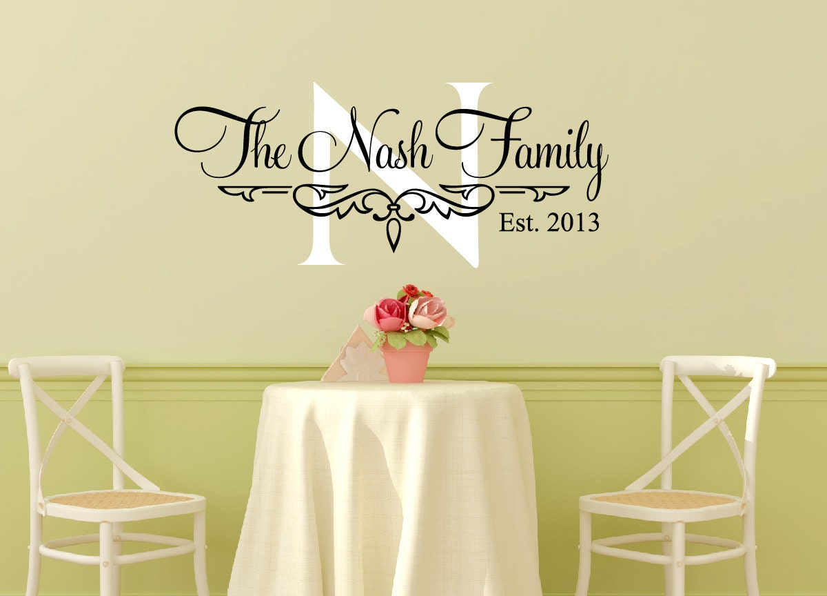 Family name wall decal personalized family wall decal family zoom amipublicfo Image collections