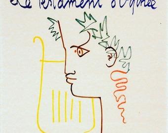 Art Print Testament of Orpheus Jean Cocteau Print of old Movie Film Poster