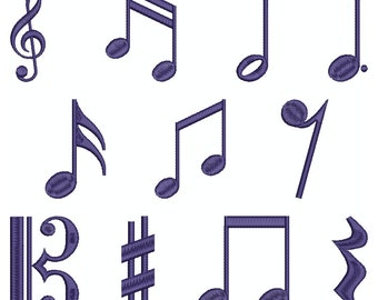Collection Machine Embroidery Designs Instant Download - Musical Symbols 1
