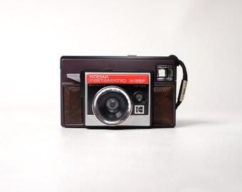 Vintage Kodak Instamatic X-35F Camera with Case