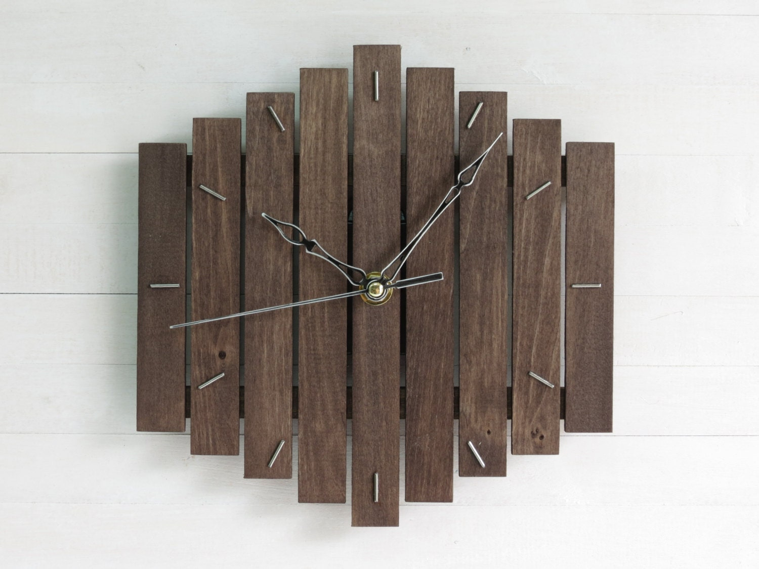 Black wall clock thanksgiving decor wooden decor romb zoom amipublicfo Image collections