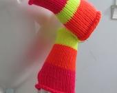 Neon Sunburst Fingerless Gloves