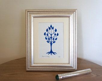 Tree form I - signed Gocco screen print