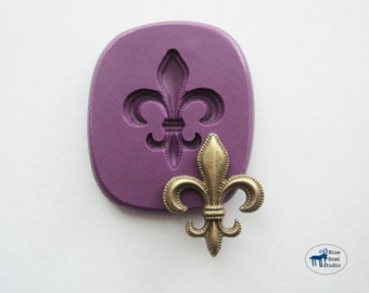 Fleur De Lis Mold/Mould 2 - French Flower Mold - Silicone Molds - Polymer Clay Resin Fondant