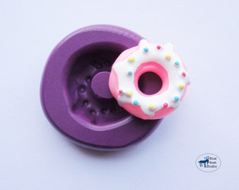 Glazed Donut Mold/Mould - Decoden Sweets Kawaii - Silicone Molds - Polymer Clay Resin Fondant
