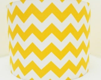 Yellow Chevron Fabric Lampshade