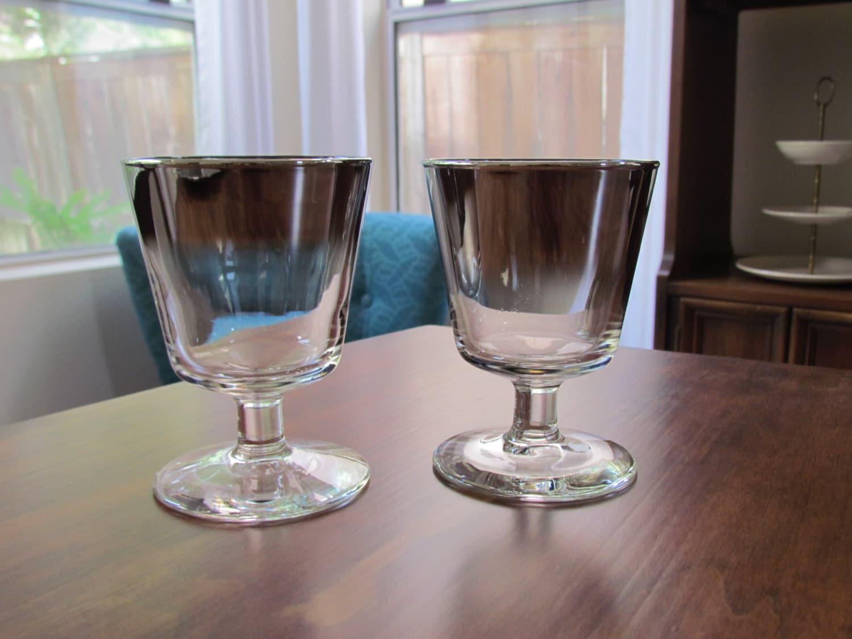 Vintage short stemmed wine glasses ombre by midcenturyobsession - Short stemmed wine glass ...