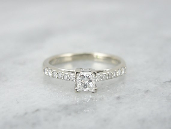 engagement ring square cut www imgkid the image