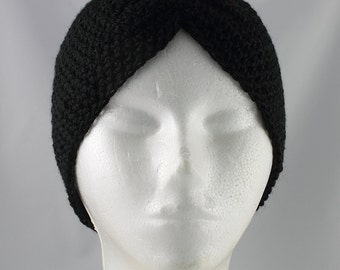 Black Turban Hat for Cancer Patients