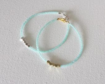 Mint nugget bracelet, aqua bracelet, seed bead jewelry,seed bead bracelet,friendship bracelet,minimalist bracelet,beaded bracelet,bridesmaid