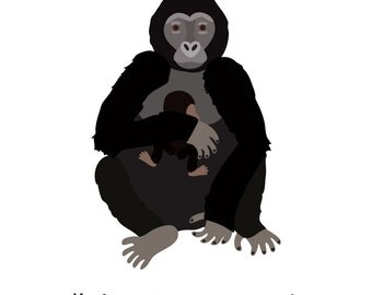 Gorillas (4x4 Card)