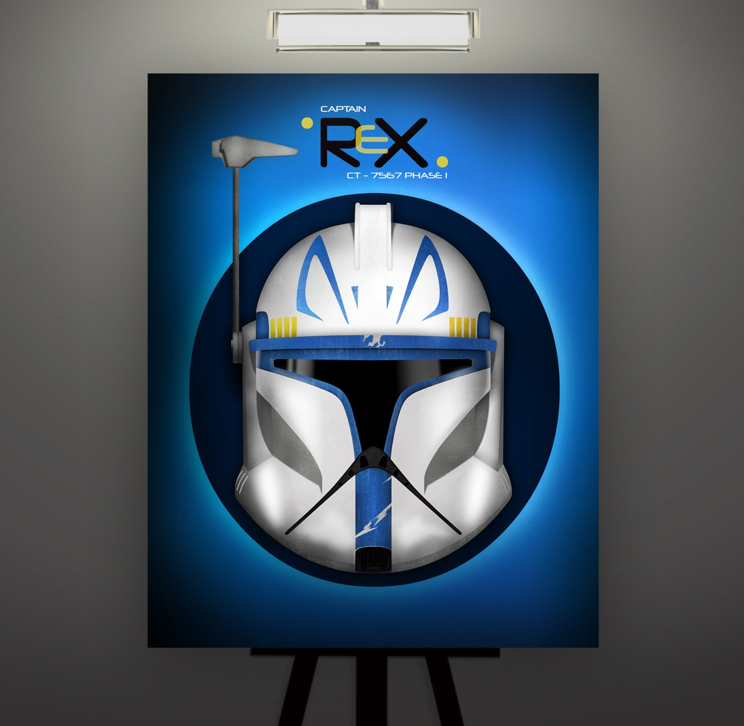Star Wars Inspired Captain Rex Phase 1 Clone Trooper Helmet