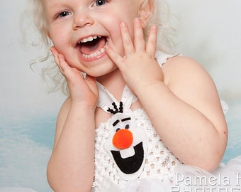 Olaf tutu dress + hat costume, Frozen tutu dress, Frozen Birthday party, snowman tutu dress