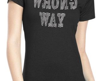 Ladies Twin Peaks shirt -  black lodge t shirt - wrong way shirt
