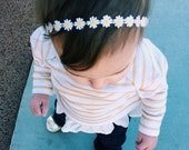 Dainty Daisy Chain, Halo Headband. flower crown, floral crown.