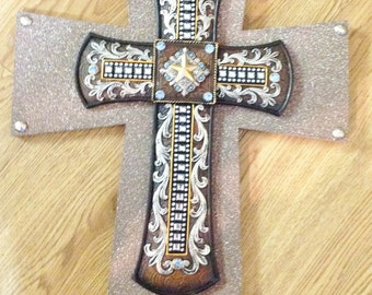 FILIGREE WESTERN Style Cross Decor