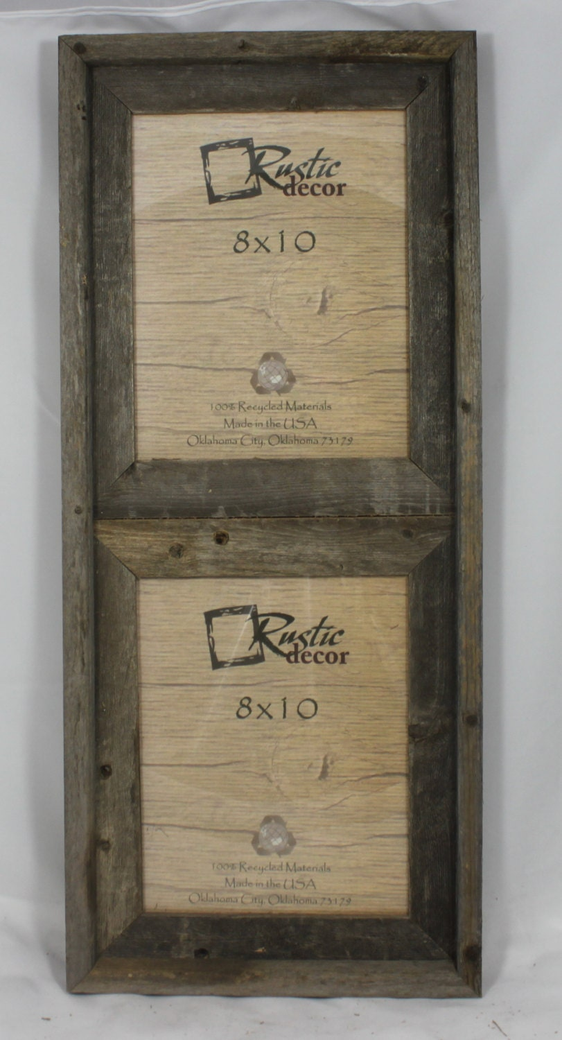 8x10 2 Wide Rustic Barn Wood Vertical Double Opening