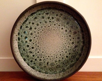 FRANK DENMARK Monumental Mid Century DANISH Studio Pottery Plate / Bowl