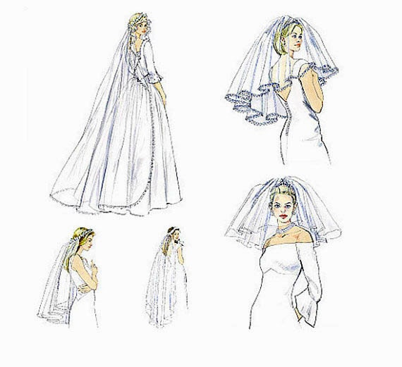 Wedding Veils And Headpieces Patterns: Items Similar To LiKE NeW- BRIDAL VEIL PATTERN Wedding