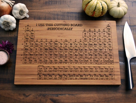Periodic table cutting board cheese board by elysiumwoodworks - Periodic table chopping board ...