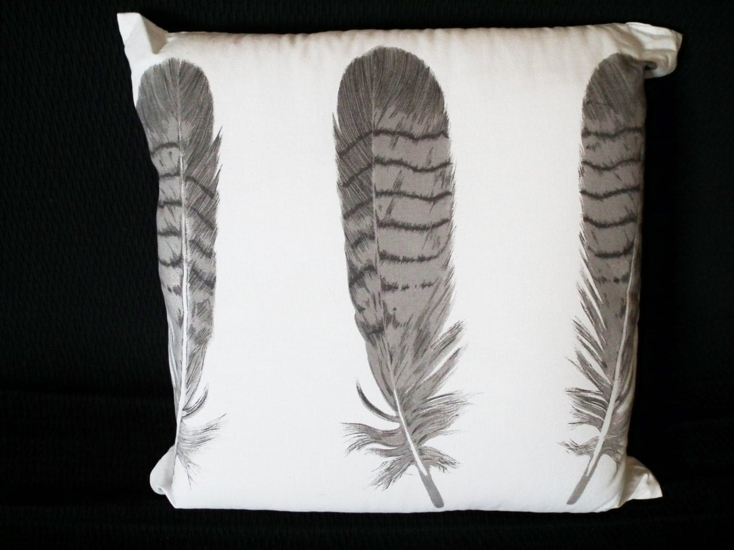 Decorative Pillows Feather : Feather Decorative Throw Pillow Cover Baby Nursery by LoopingHome