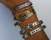 Custom Cuff Military Bracelets , Personalized Military Jewelry, Army Wife, Navy Wife and More