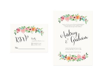 Spring Flowers Wedding Invitations