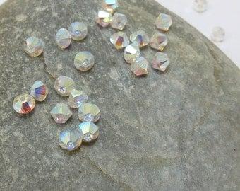 Swarovski Bicones, 4mm Aurora Borealis 2X Crystal Beads, Glass Beads, Iridescent Finish, Item 144B