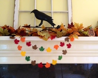 Items similar to paper garland crisp fall days fall for Arland decoration