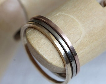 Gold stacking rings solid 14k gold stacking rings