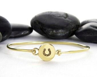 Horse Shoe, Lucky Horseshoe, Horse, Horseshoe Charm, Horseshoe Jewelry, Gold Horseshoe, Equestrian, Horseshoes, Lucky Bracelet, b248br
