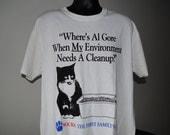 1993 Bill Clinton Socks The Cat Vintage Funny T-Shirt - L
