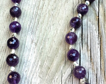 Amethyst Necklace, Purple Necklace, Bold Necklace, Necklace for Her, Jewelry for Her, Gemstone Necklace