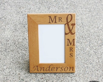 Personalized Wedding Frame - Custom Picture Frame - Engraved Photo Frame - Custom Wedding Frame - Wedding Gift, Anniversary Gift