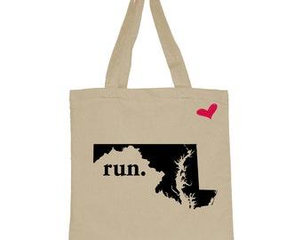 RUN Maryland Canvas Tote Bag