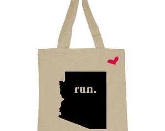 RUN Arizona Canvas Tote Bag