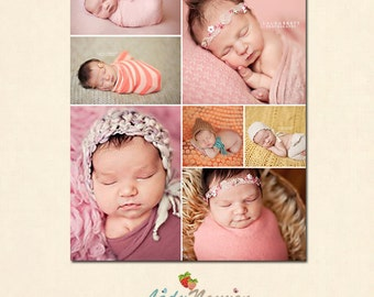 INSTANT DOWNLOAD 16 x 20 Collage & Blog Board, Storyboard Photoshop templates - BL034