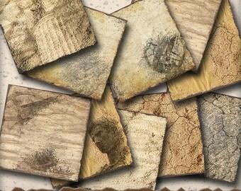 Steampunk Ruin Digital Scrapbook Paper - 12 x 12 Antique Distressed Paper - Digital Scrapbooking  Art Journals and Paper Crafts