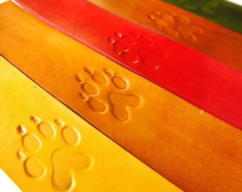 Leather Bookmark - Wolf Paw