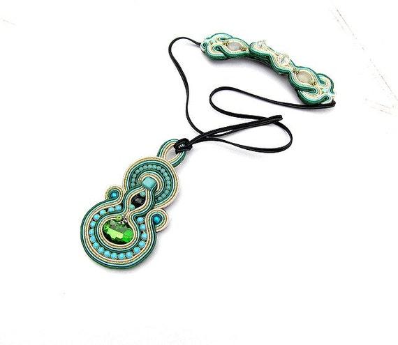 bohemian jewelry green turquoise pendant bohemian by