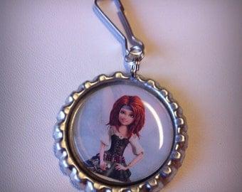 Pirate Fairy ZARINA necklace or zipper pull
