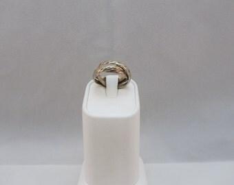 Sterling Silver Interlocking Band Ring size 6