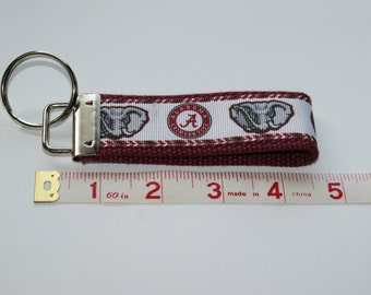 Custom University of Alabama Crimson Tide Keychain