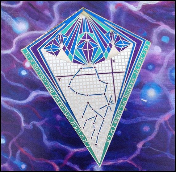 wholesale graph paper diamond aquarius constellation pin