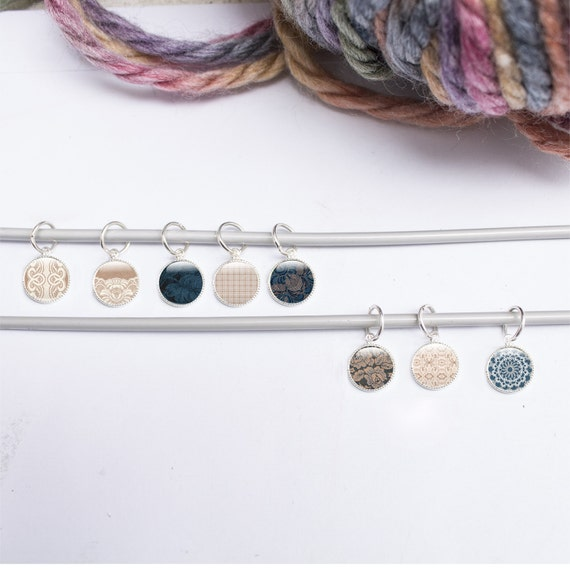 Lace Knitting Stitch Markers : Knitting Gifts Stitch Markers - 8 Lace Stitch Markers - Small Knitting Gifts ...