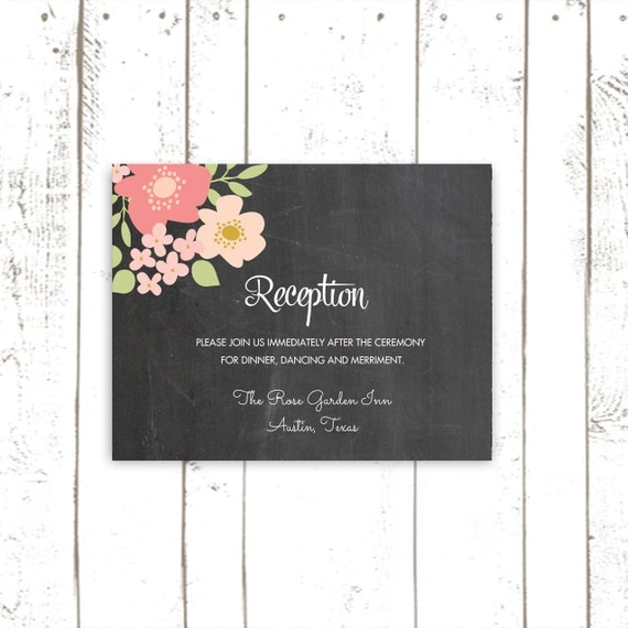 Wedding Invite Enclosures: Wedding Invitation Enclosure Cards Floral By MooseberryPaperCo